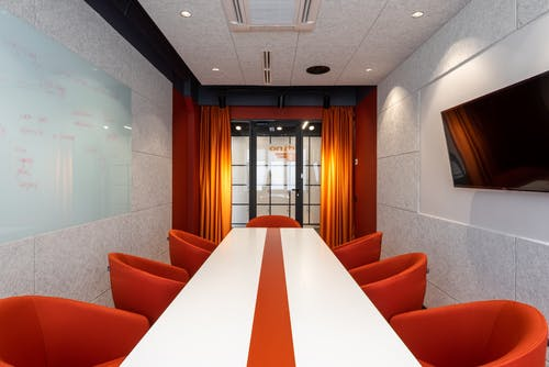 Interior of modern conference room