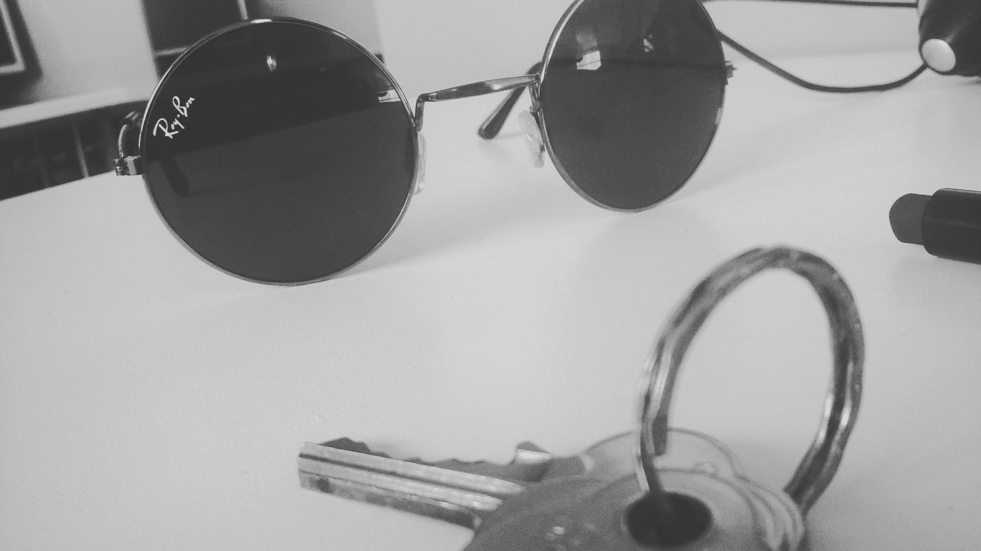 Ray Ban Sunglasses on the Table