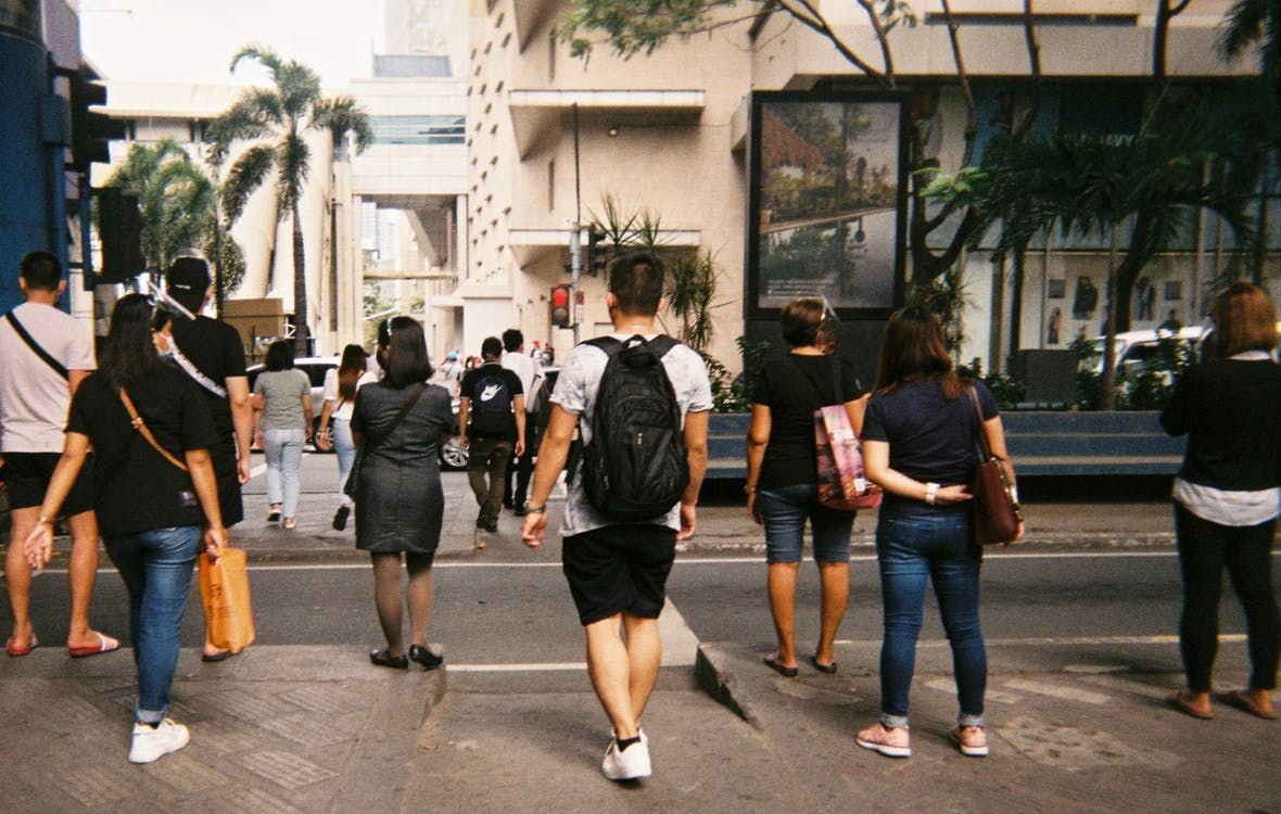 Free stock photo of 35mm film, asian people, crossing street
