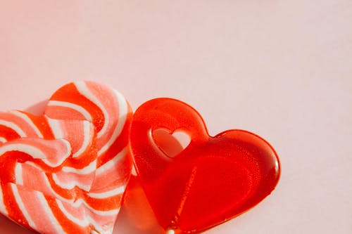A Bright Color Heart Shape Candy