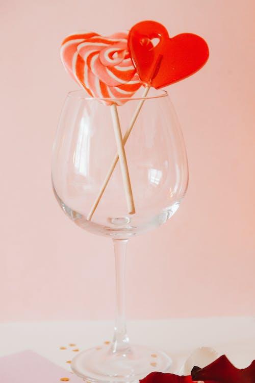 Heart Shape Lollipops in a Goblet
