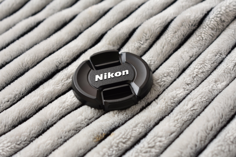 Black Nikon Dslr Camera Lens Cover