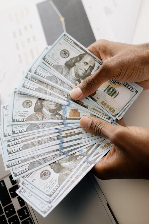 Free stock photo of anonymous, bills, cash