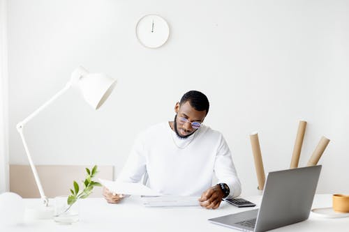 Free stock photo of absorbed, analysis, black guy