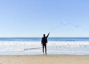 man, person, beach