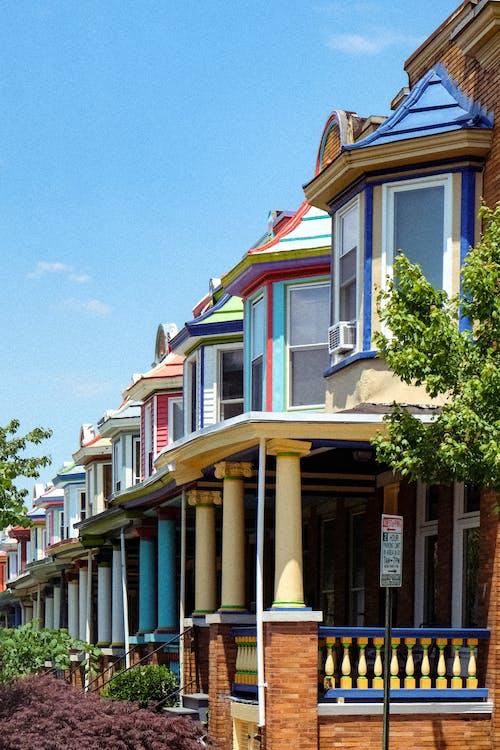 Free stock photo of architecture design, baltimore, bright colors