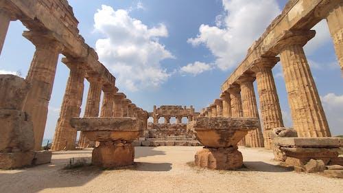 Free stock photo of columns, eracle, greek statue