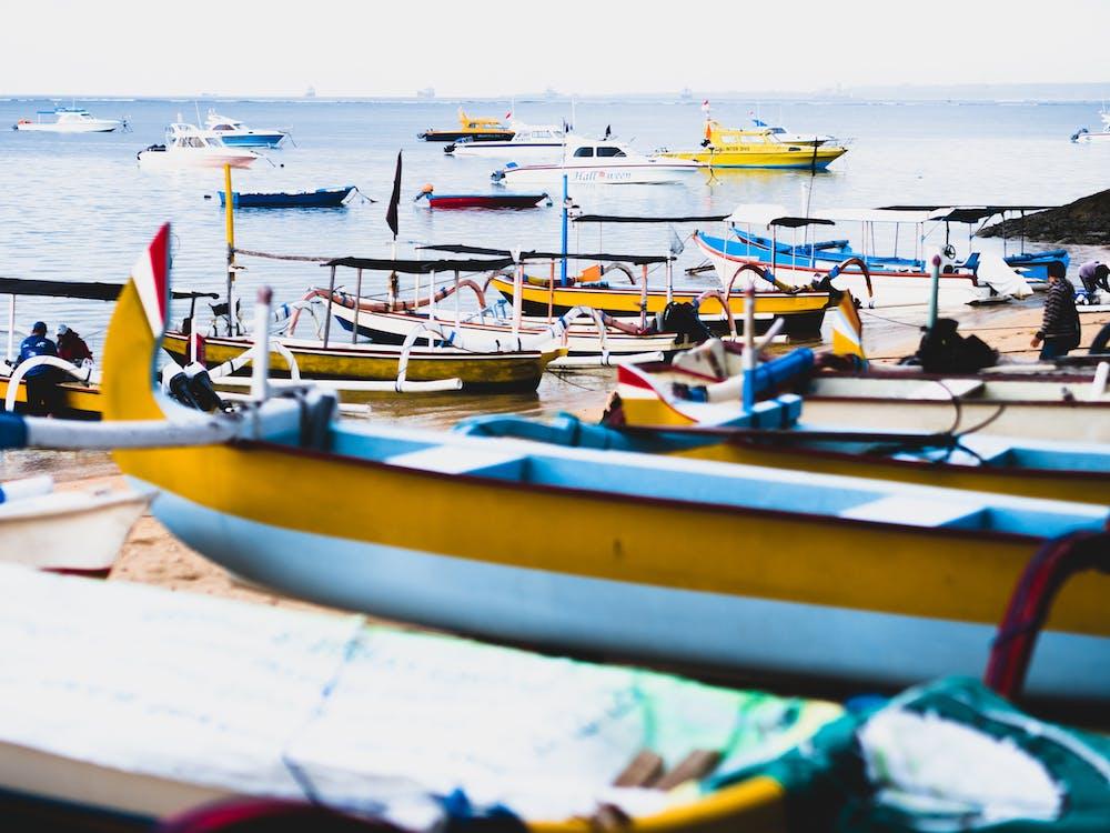 båtar, hav, havsstrand