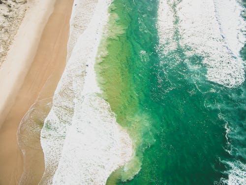 招手, 海洋, 海灘, 無人機 的 免费素材照片