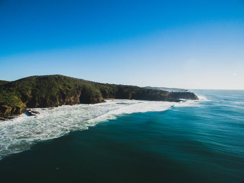 Ingyenes stockfotó drón, hullámok, óceán, partvonal témában