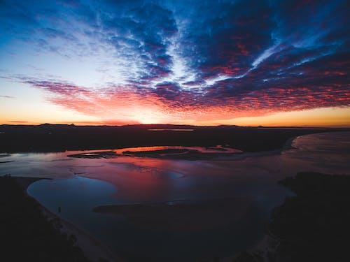คลังภาพถ่ายฟรี ของ ชายหาด, ดวงอาทิตย์, ตอนเย็น, ตะวันลับฟ้า