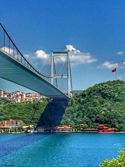 Gratis lagerfoto af arkitektur, bjerg, bro, by