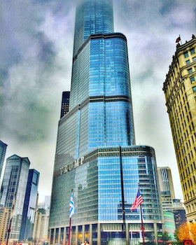 Low Angle Photography of Trump Building