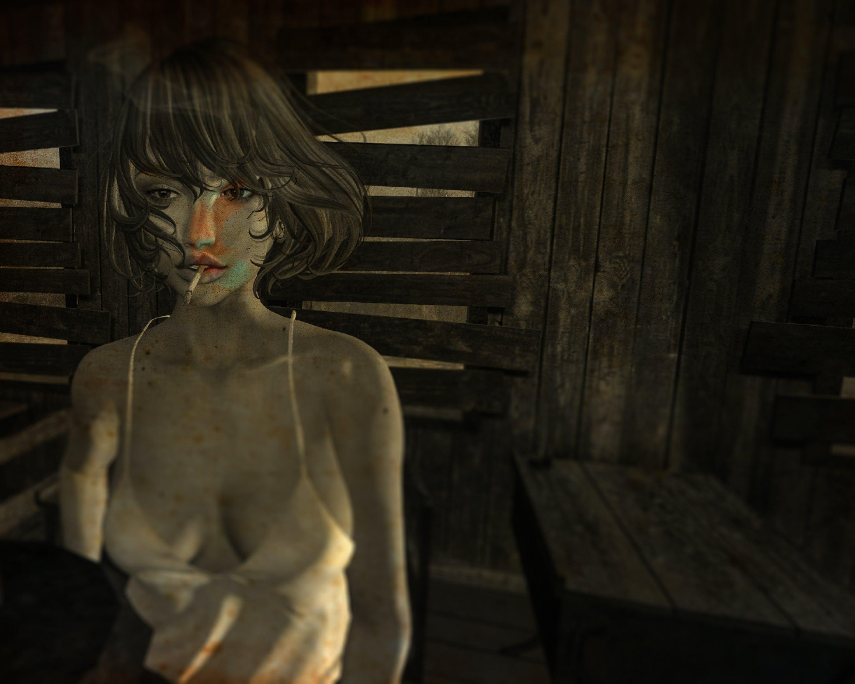 Free stock photo of girl, smoking
