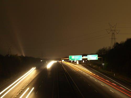 天空, 晚上, 有霧, 汽車 的 免費圖庫相片