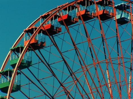 Orange and Green Ferris Wheel