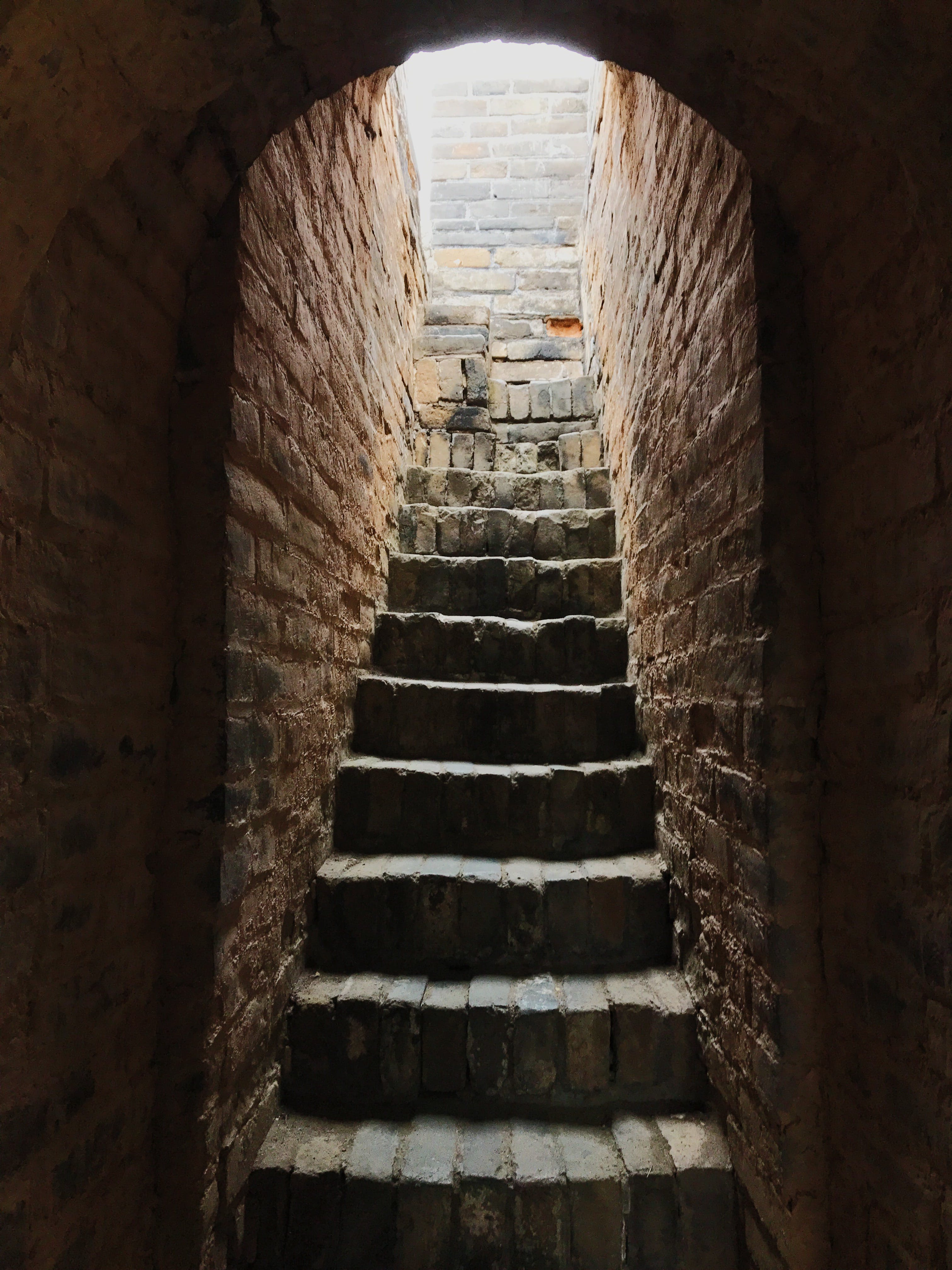 Free stock photo of brick, dark, Great Wall of China, light