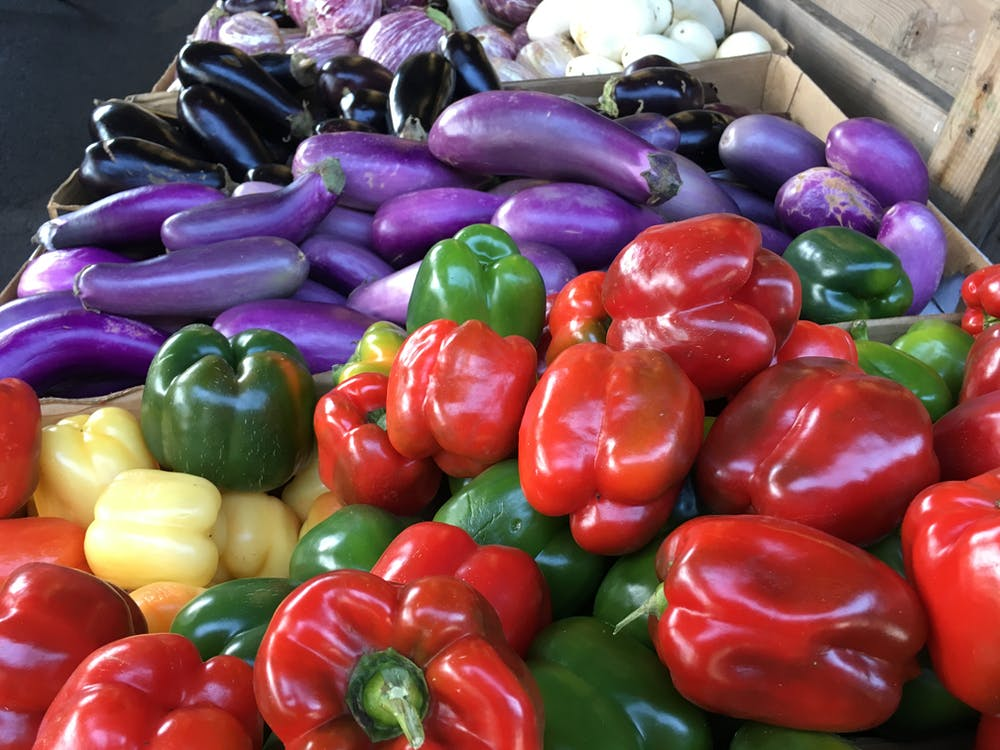 Free stock photo of bell peppers, farm produce