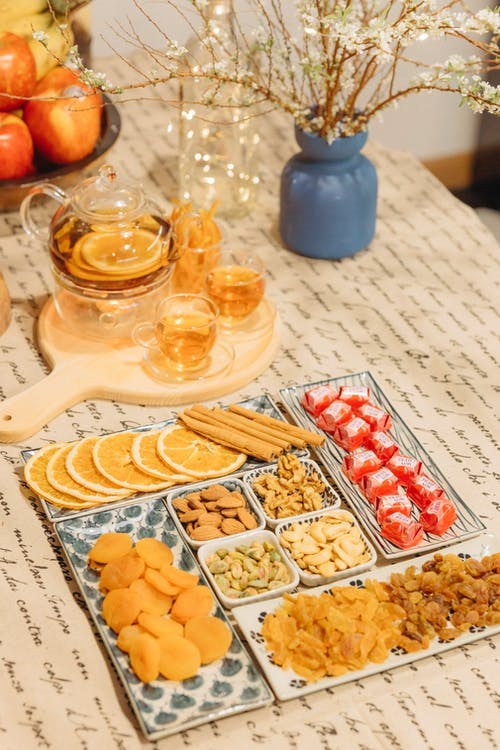 Assorted Snacks and a Tea Set