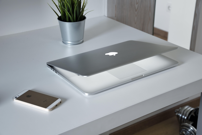 Free stock photo of apple, blur, computer, decorative plant
