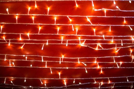 Kostenloses Stock Foto zu licht, rot, silvester, lampe