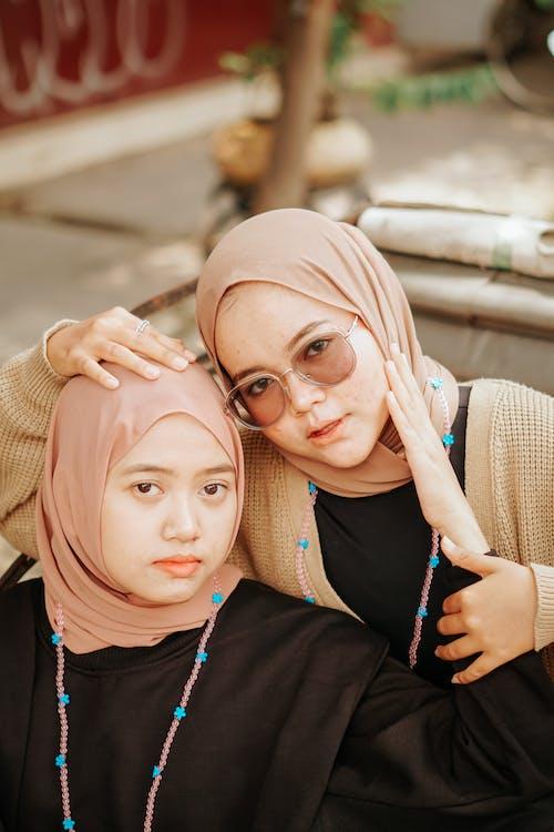 Women Wearing Hijab Scarf Looking at the Camera