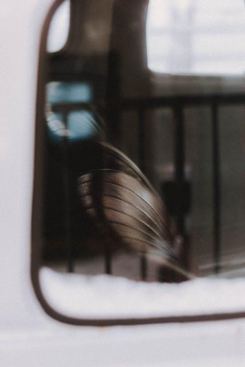 Seat through window of car