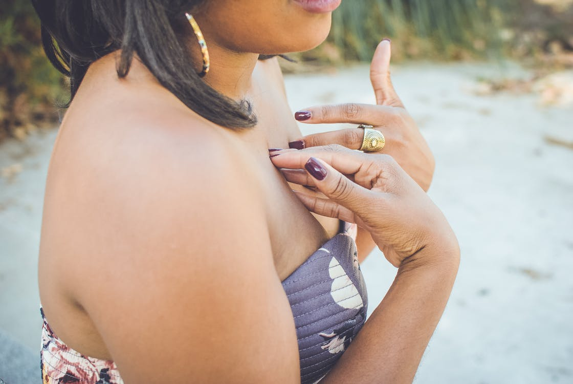 Free stock photo of black girl, dress, hands