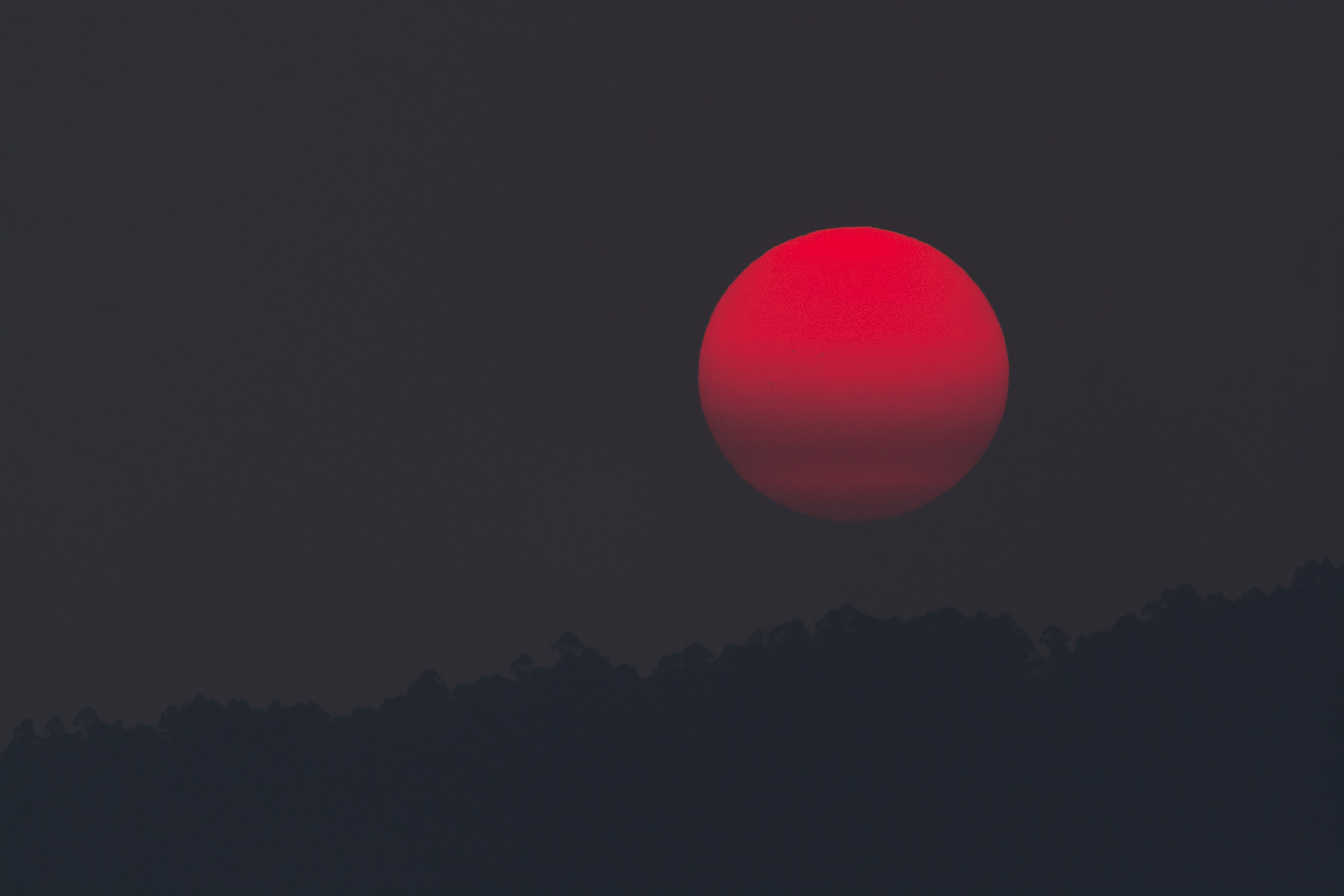 Red Moon during Night Time
