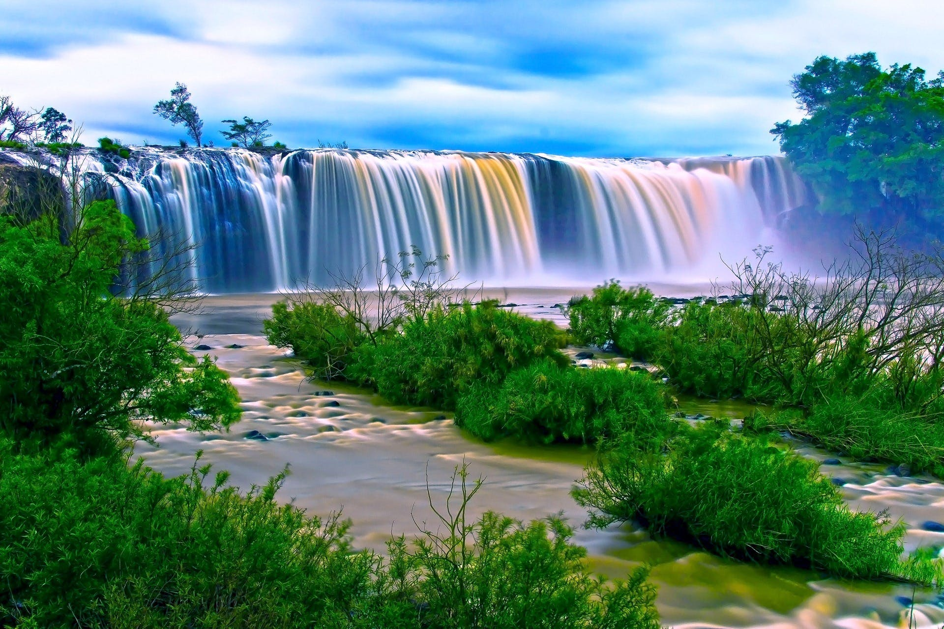 nature backgrounds hd. simple nature water falls surrounding green grass during daytime with nature backgrounds hd