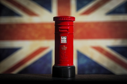 Free stock photo of red, mail, mailbox, flag
