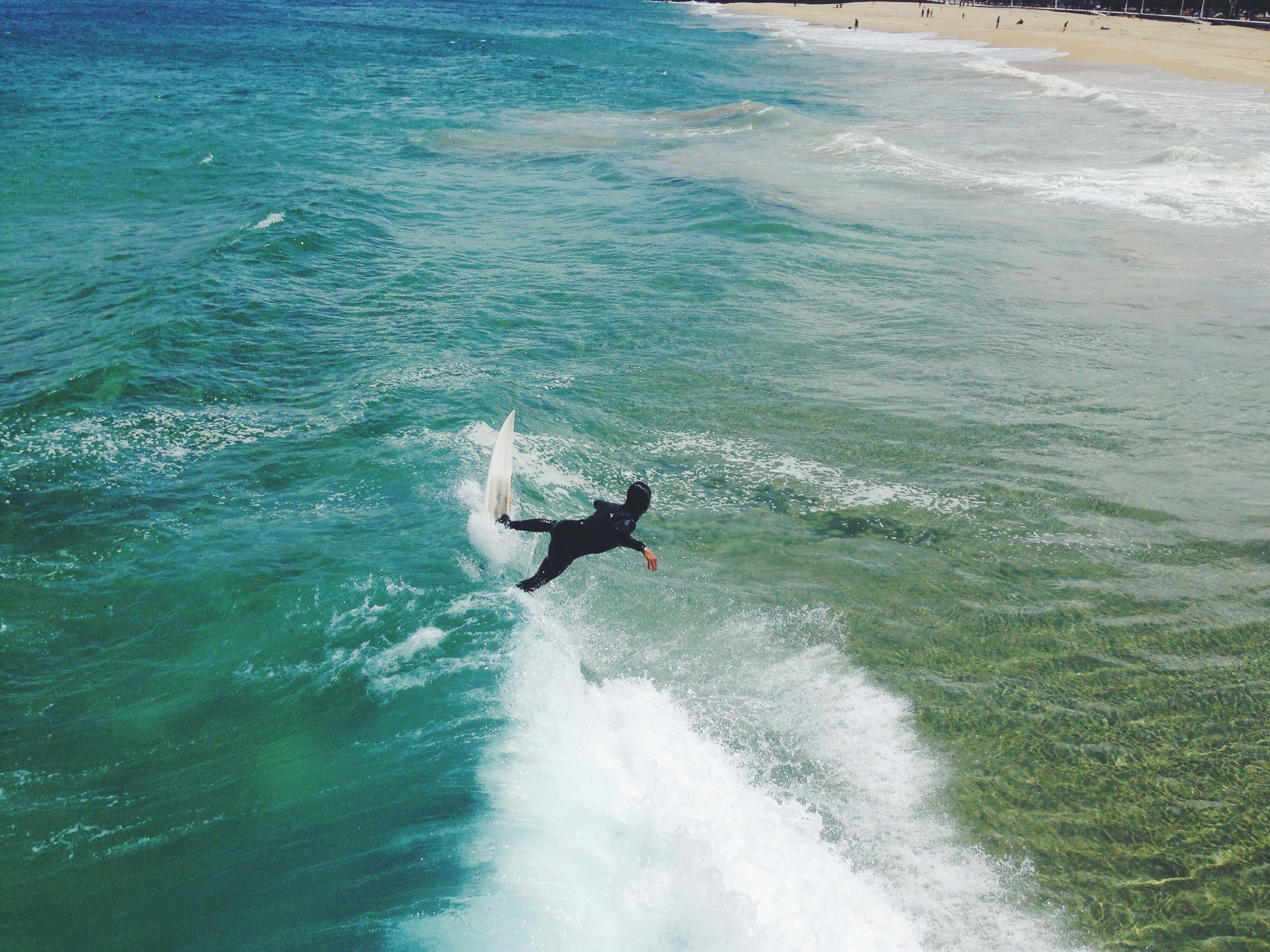 Free stock photo of sea, waves, sport, surfing