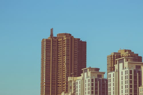 Free stock photo of afternoon, background, blue sky, buildings