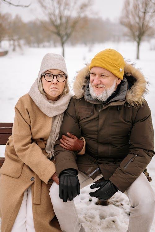 Foto stok gratis beanie, cinta, cuaca dingin