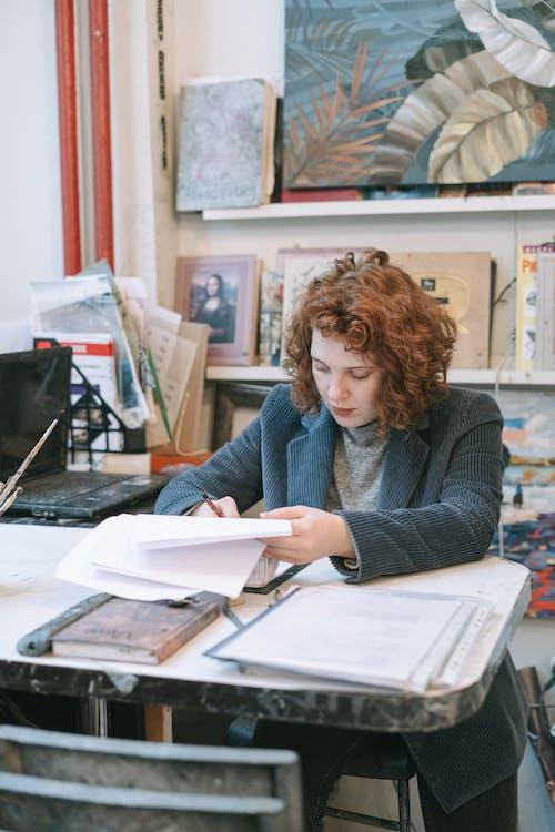 A Woman Managing an Art Gallery