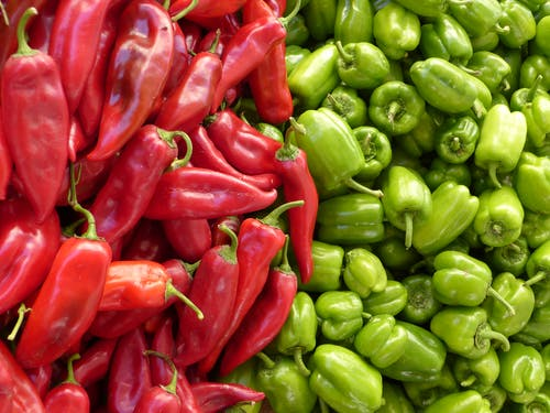 Red Chili Pepper Near Green Chili Pepper