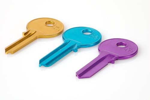 Základová fotografie zdarma na téma barevný, klíče