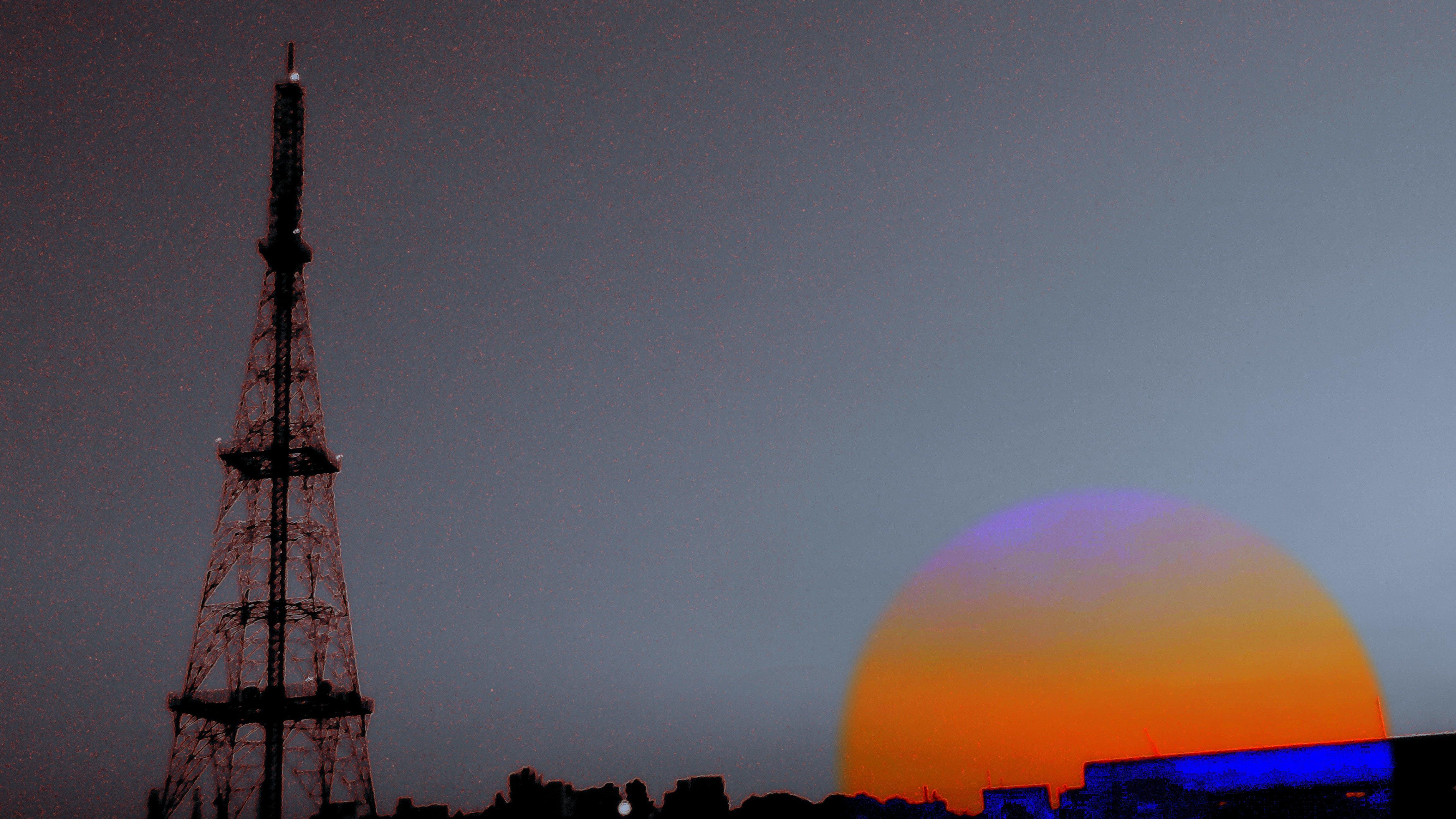 Free stock photo of setting sun