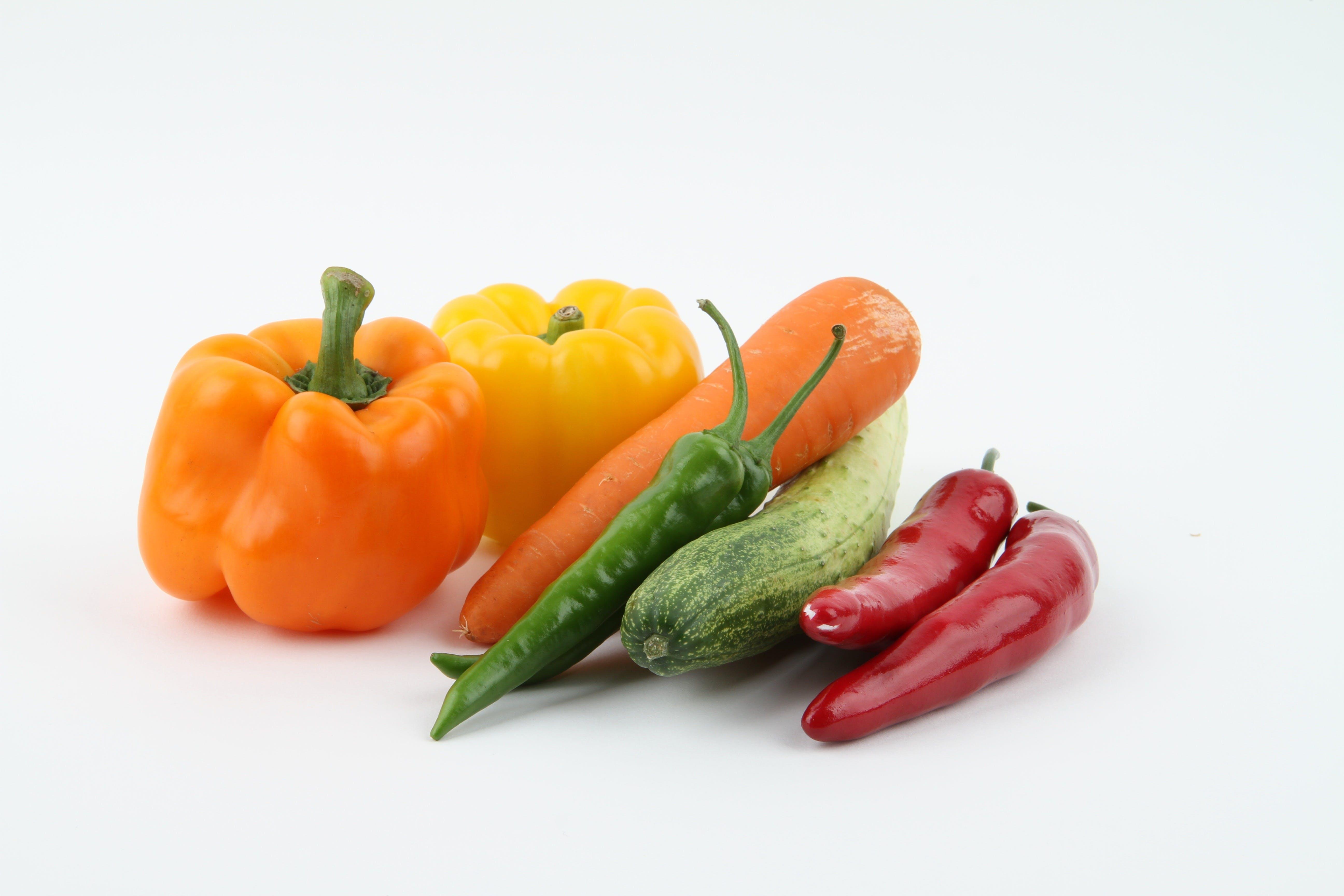 Carrot Beside Red Pepper