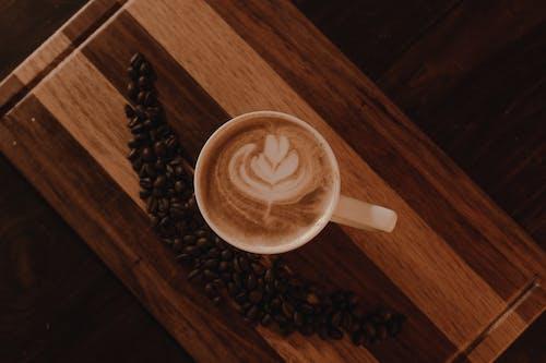 Základová fotografie zdarma na téma caffè latte, detail, káva