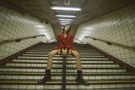 stairs, fashion, person