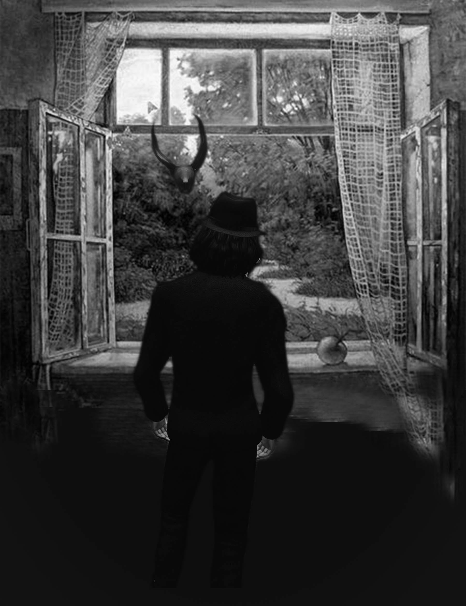 Free stock photo of man, bird, black and white