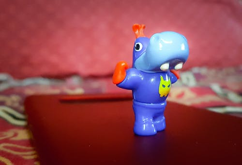Free stock photo of blue, hippopotamus, hippos, miniature toy