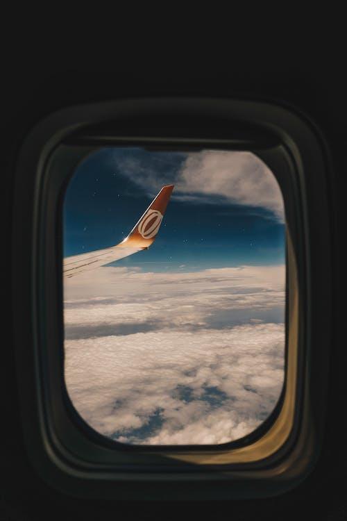 araç, cam kenarı, hava aracı, havacılık içeren Ücretsiz stok fotoğraf