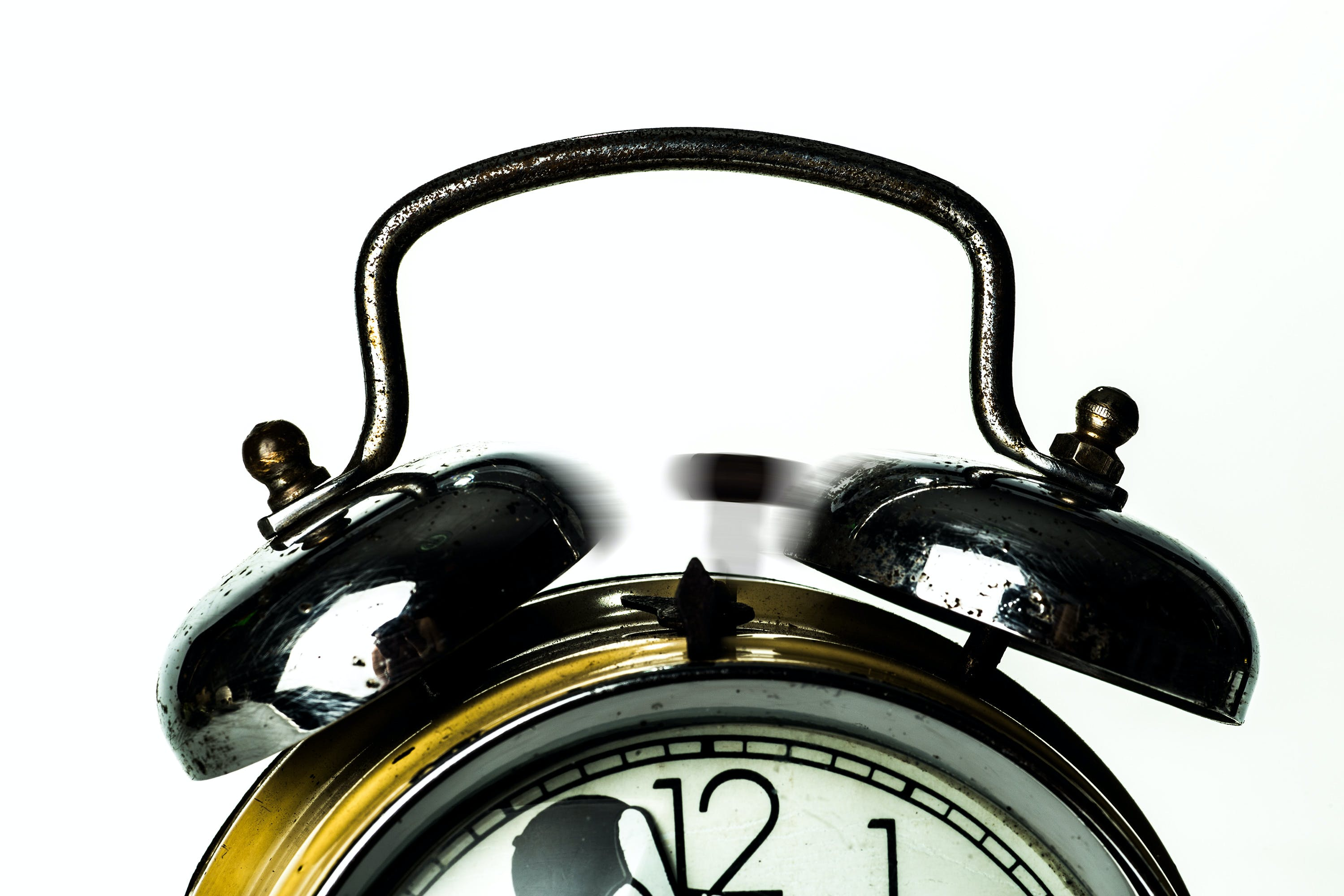 Black Ring Bell Alarm Clock
