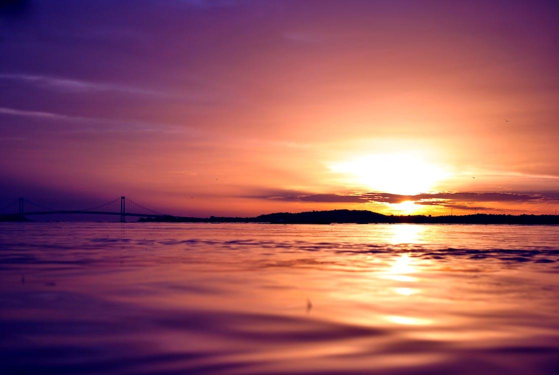 Free stock photo of sunset, venezuela orinoco, water