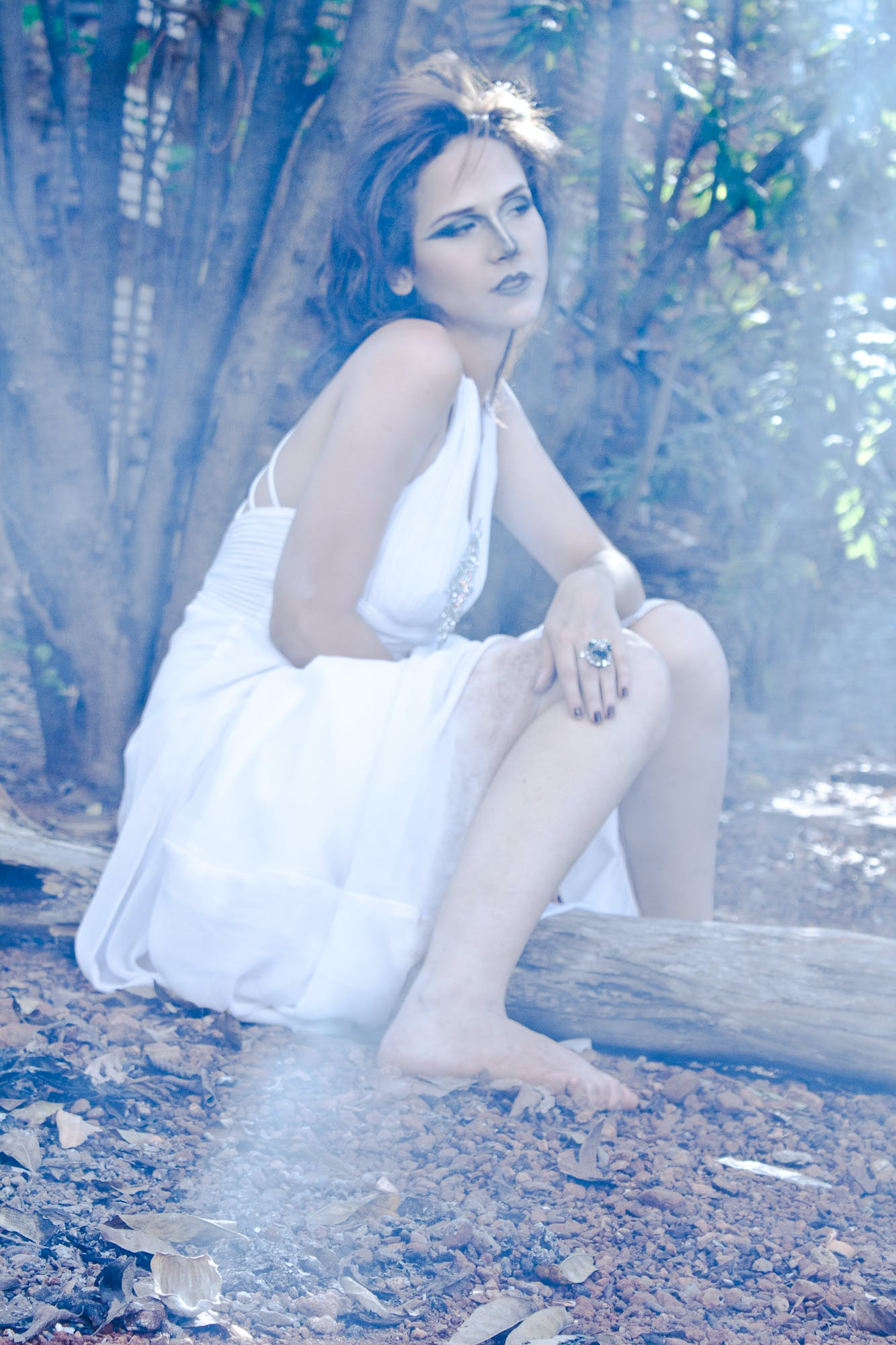 Female Wearing White Dress Photography