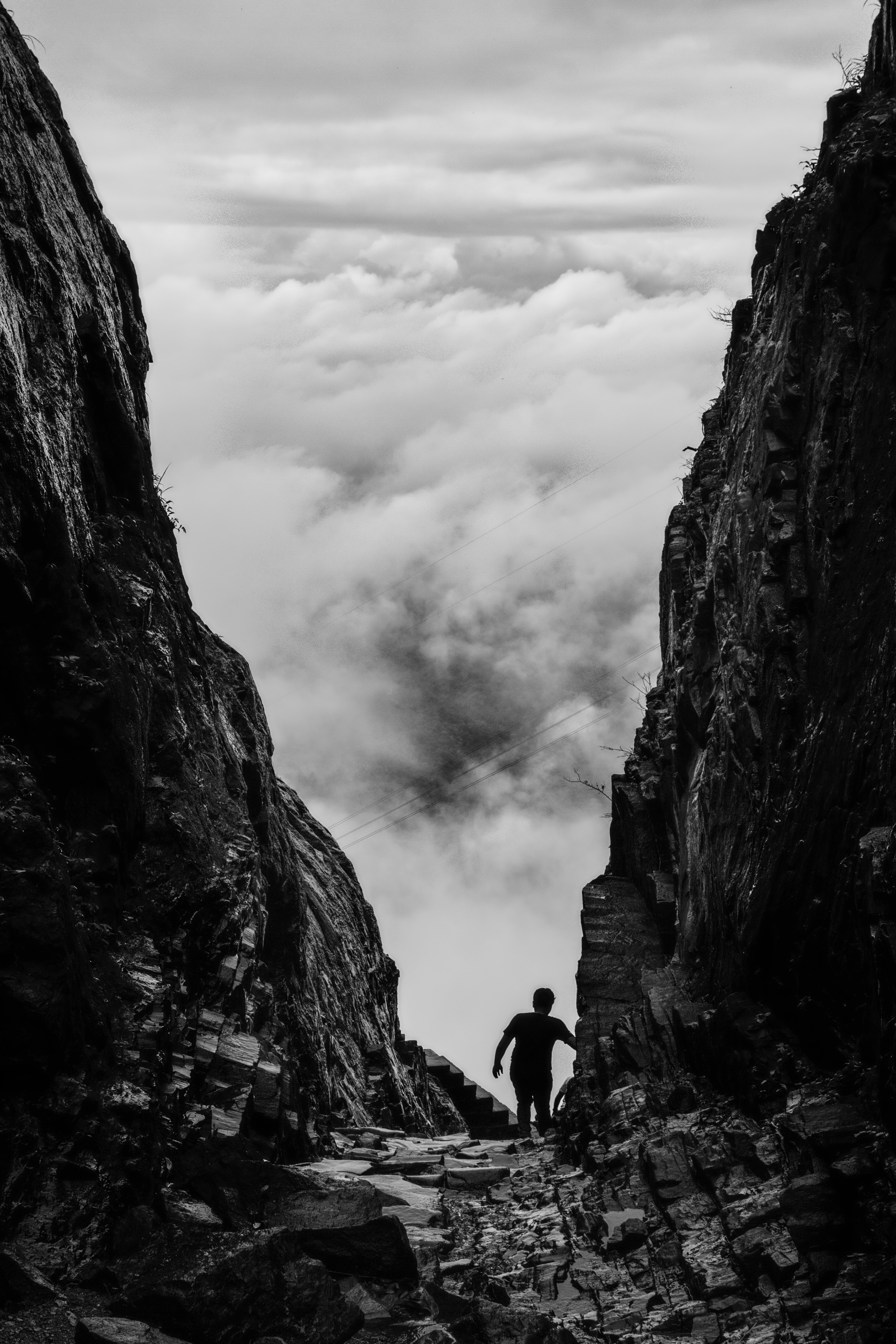Man Standing On A Cliff 183 Free Stock Photo