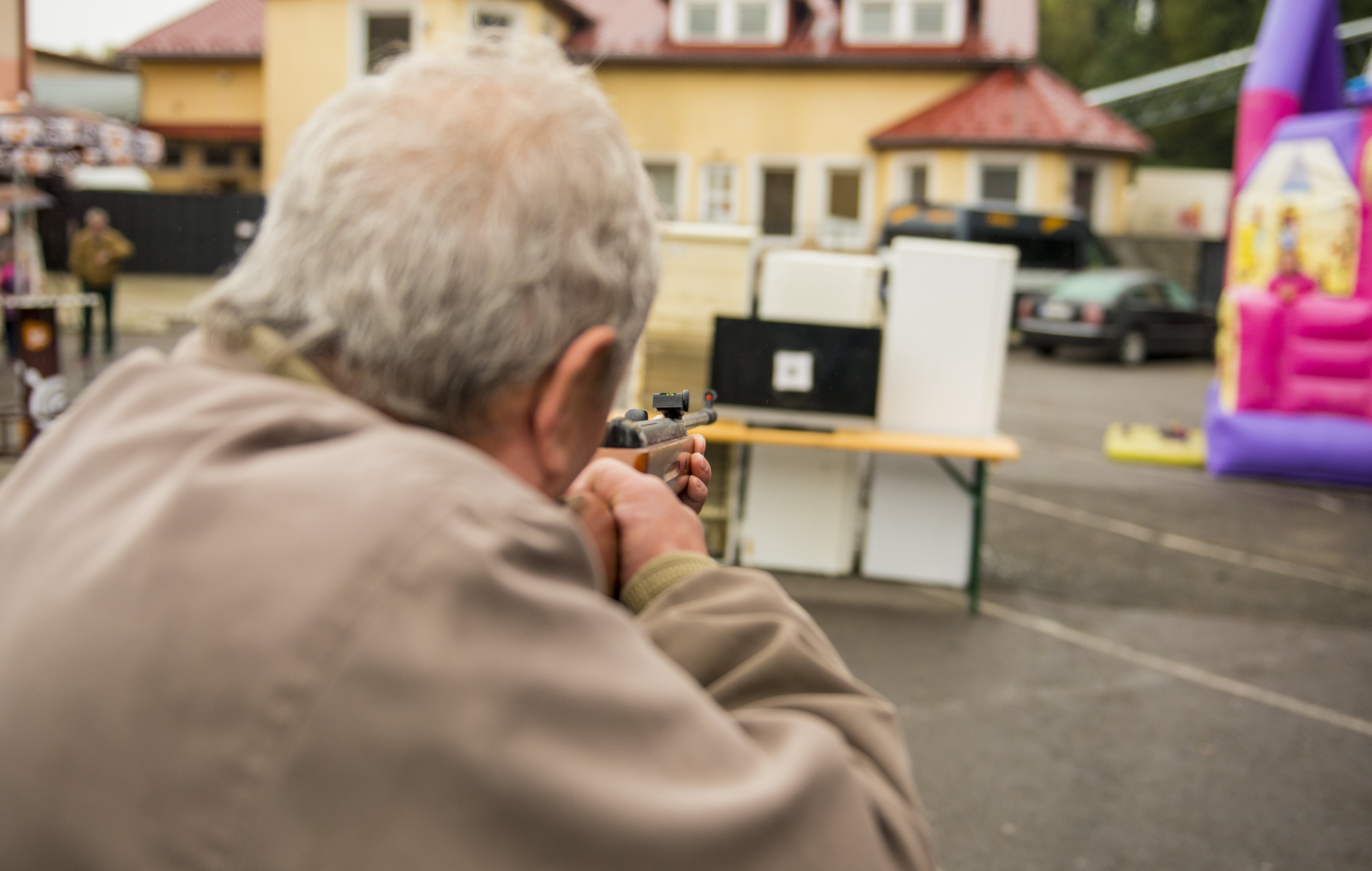 Free stock photo of dad, grandfather, gun, people