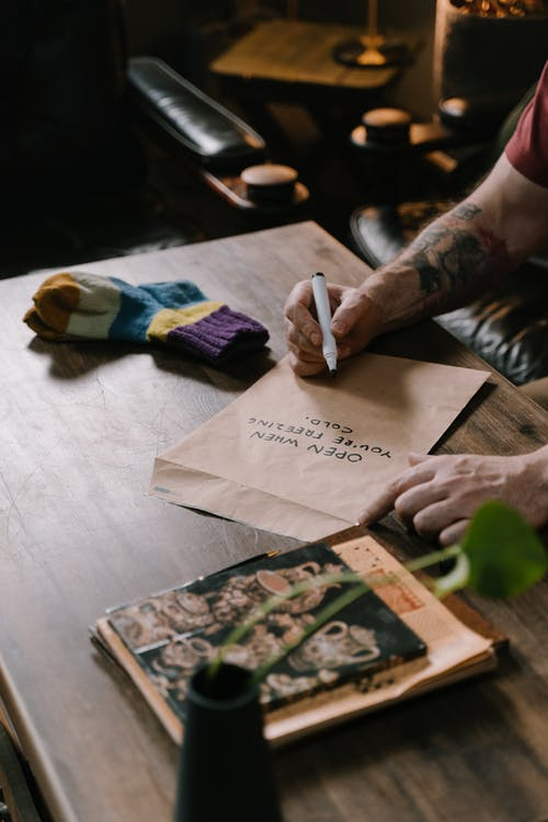 Gratis stockfoto met bericht, bruin papier, cadeau